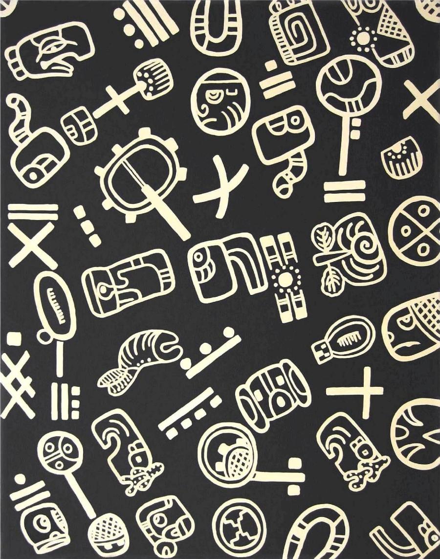 Glifos Maya Negro